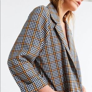 Urban Outfitters Checkered Duster Coat